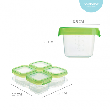 4 in 1 Food Storage Container Packaging Box (120ML)